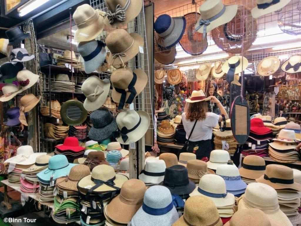 shop in Chatuchak selling hats