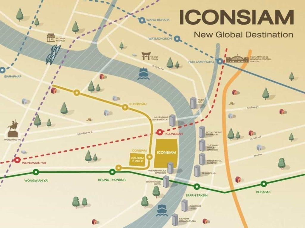 Karte mit Ortslage des ICONSIAM
