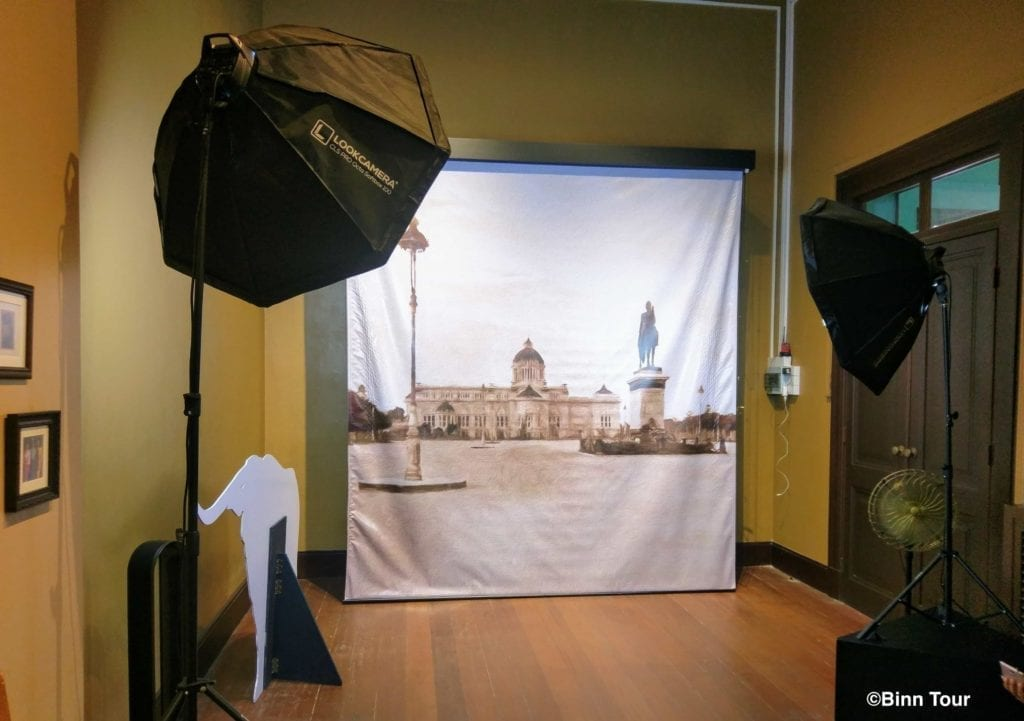 Photo shooting set at the Museum of Siam