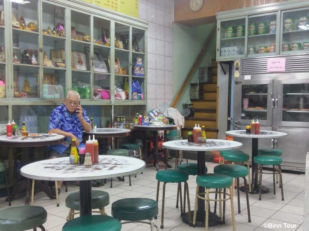 dining room at On Lok Yun with man sitting at a table