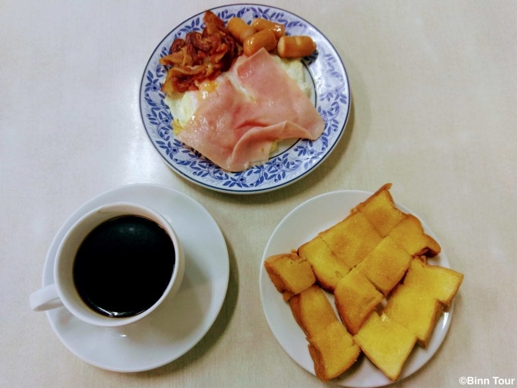 breakfast at On Lok Yun at 6 in the morning