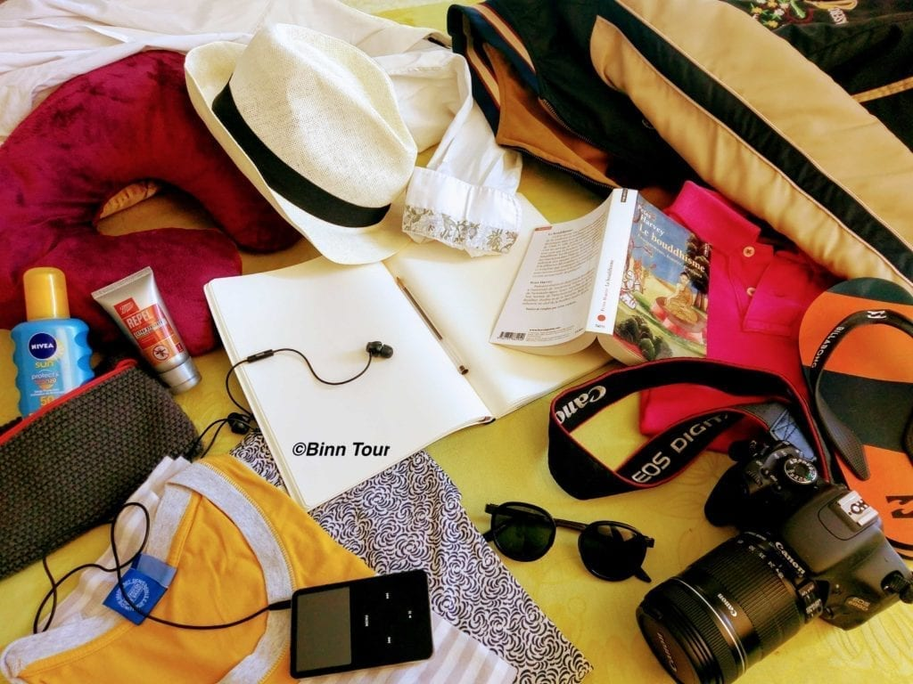 Binn Tour's packing list for Thailand