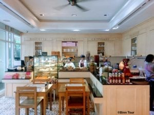 view of counter area at Café Tartine
