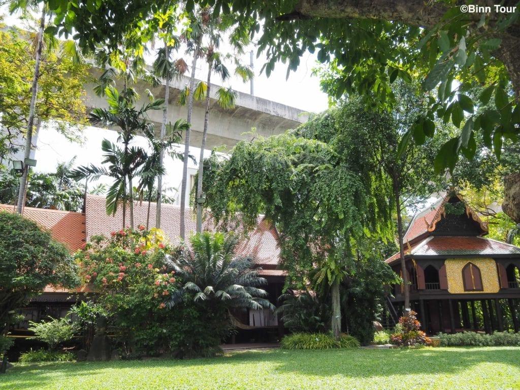 Lush garden inside of the Suan Pakkad museum
