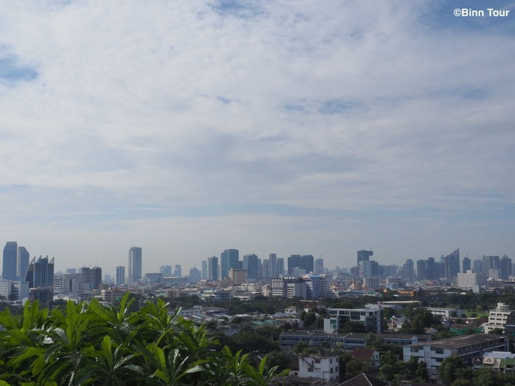 view of cloudy Bangkok sky during the rainy season
