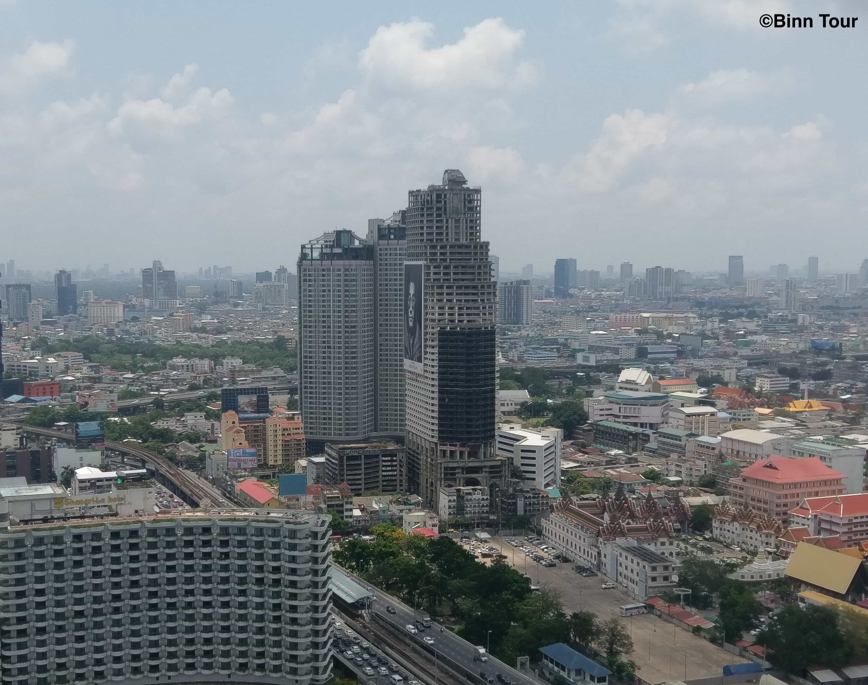Front view of Sathorn Unique Tower from afar