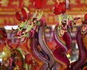 Chinese New Year dragons in Chinatown
