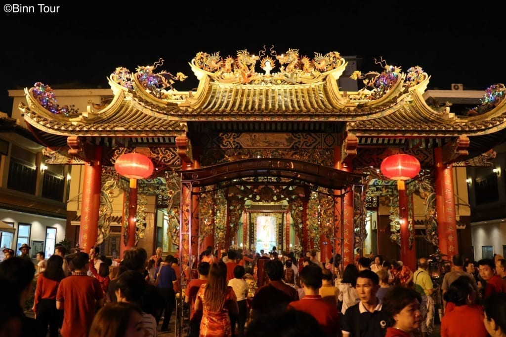 The Kuan Yin Shrine in Chinatown during Chinese New Year