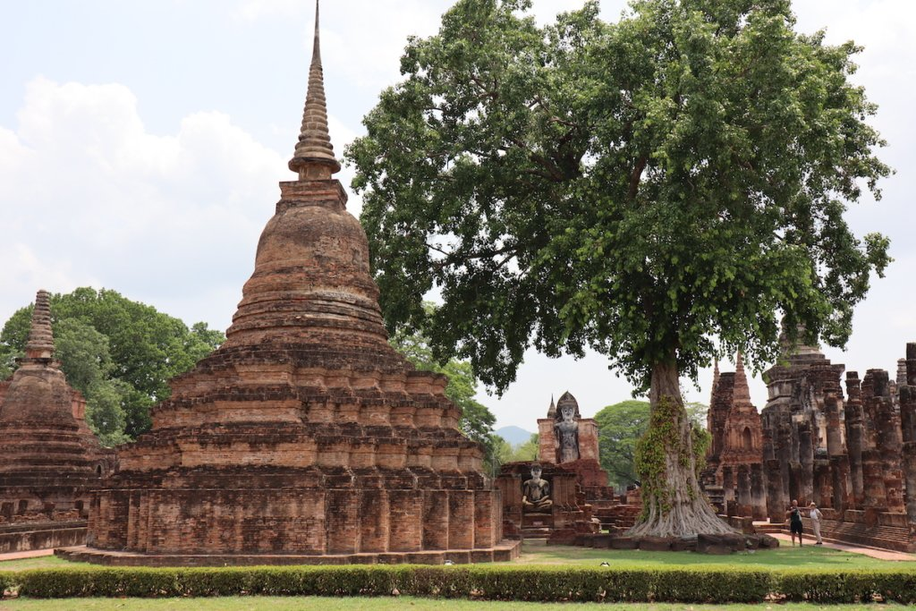 Inside the Sukhothai Historical Park where the Ram Khamhaeng inscription was found