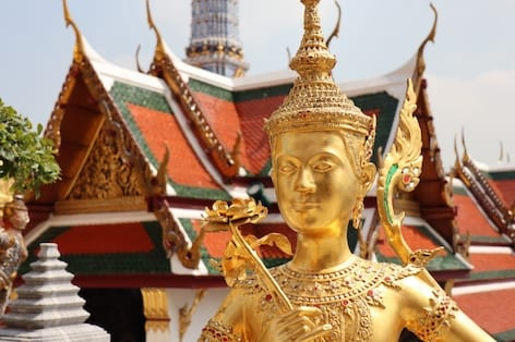 Figure of a mythic being at the Emerald Buddha Temple